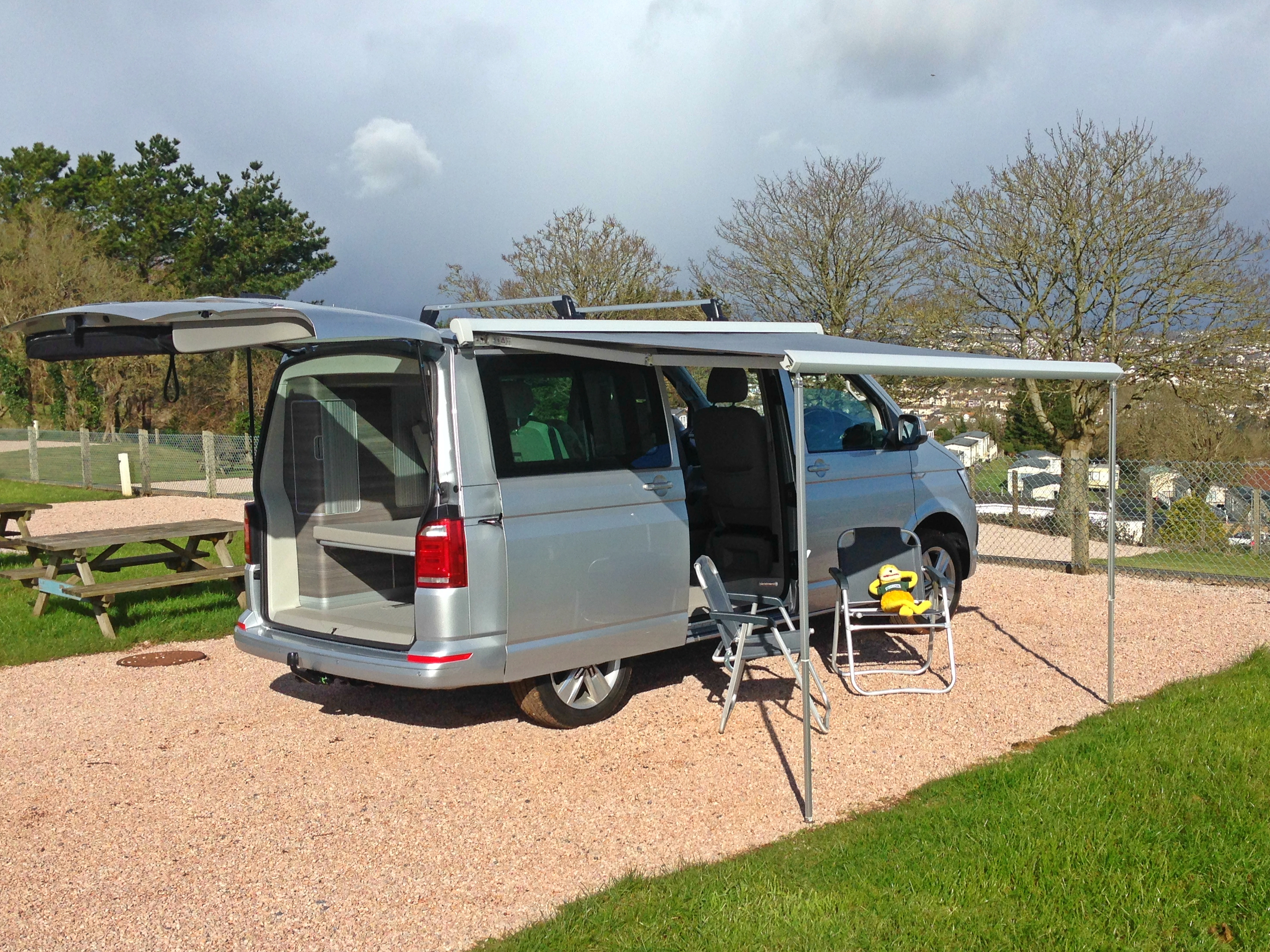 Awning Out On VW California T6