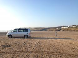 VW California hire - beach