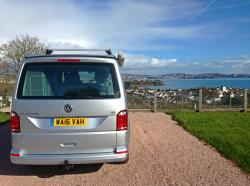 the rear of a VW California T6