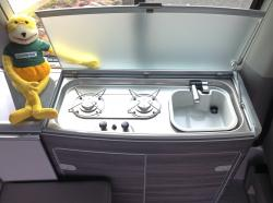 cooking in a VW California T6