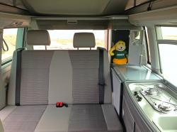 inside looking back in a VW California T6