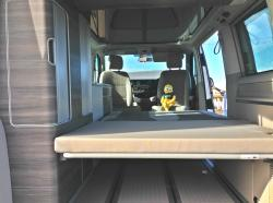 Inside the boot of a VW California T6