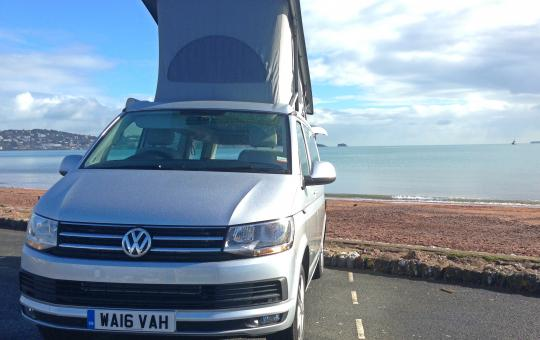 VW California T6 at Paignton seafront