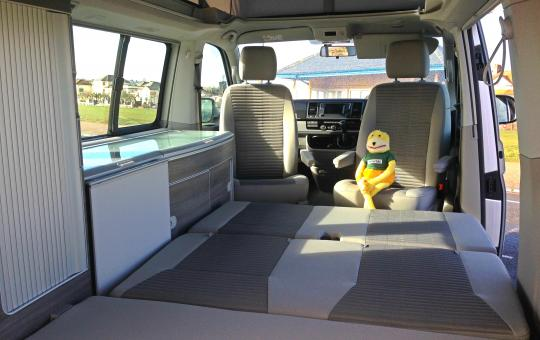 capitain seats in a VW California T6
