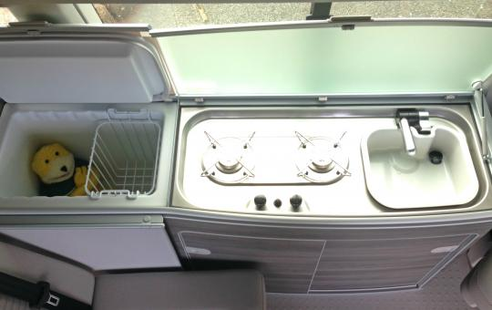 Sink and Gas hobs in a VW California T6